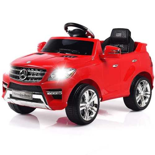 6V Mercedes Benz Kids Ride on Car with MP3+RC-Red - Color: Red