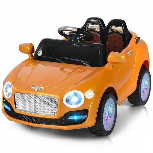 6V Kids Ride on Car RC Remote Control with MP3-Golden - Color: Golden