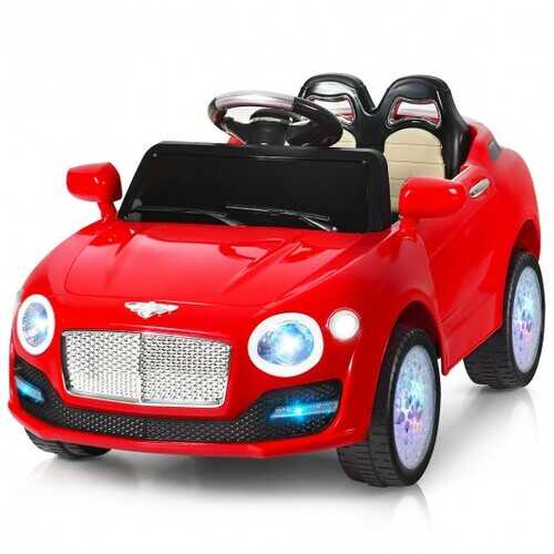 6V Kids Ride on Car RC Remote Control with MP3-Red - Color: Red