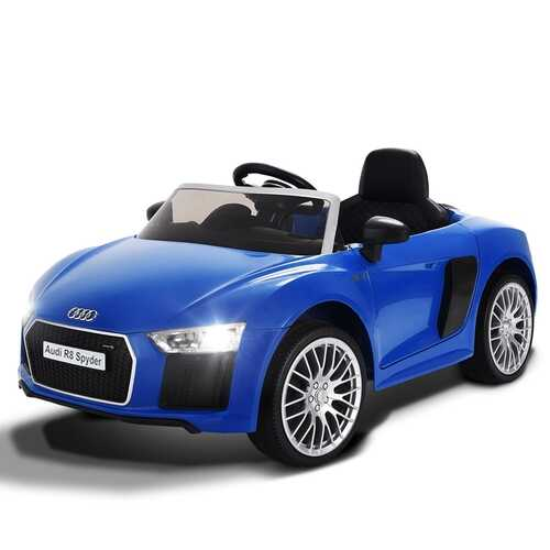 12 V Audi R8 Spyder Licensed Electric Kids Riding Car-Blue