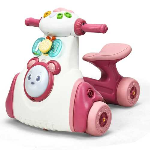 Baby Musical Balance Ride Toy-Pink - Color: Pink