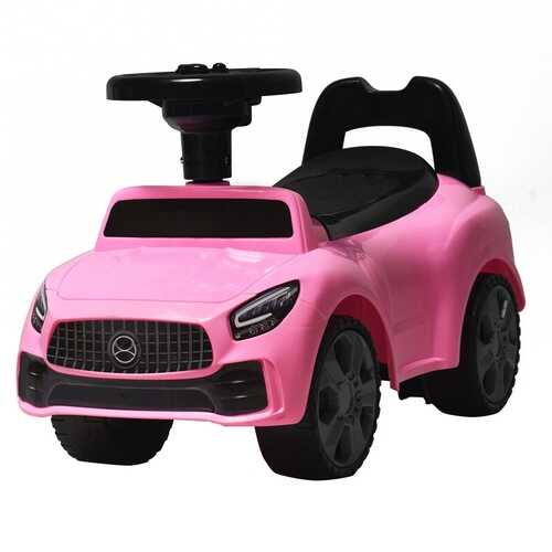 Foot-to-Floor Kids Ride-On Push Toddler Sliding Car-Pink