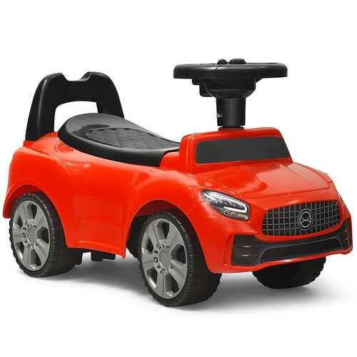 Foot-to-Floor Kids Ride-On Push Toddler Sliding Car-Red