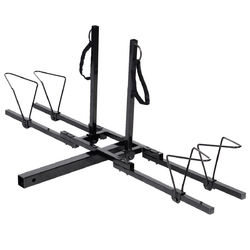 "2"" Heavy Duty 2 Bicycle Hitch Mount Carrier - Color: Black"