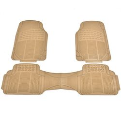 3PC Universal Car Van Front &Rear Floor Mats All Weather Heavy Duty PVC Protect