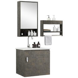 Category: Dropship Medicine Cabinets, SKU #BA0993+, Title: Modern Wall-mounted Bathroom Vanity Sink Set