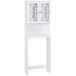 Category: Dropship Medicine Cabinets, SKU #BA7402, Title: Bathroom Spacesaver Over the Toilet Door Storage Cabinet
