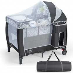 Portable Baby Playard with Changing Station and Net
