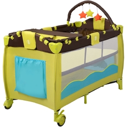 Green Portable Baby Crib Infant Bassinet Bed - Color: Green