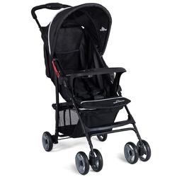 5-Point Safety System Foldable Lightweight Baby Stroller-Black - Color: Black