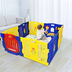Category: Dropship Play Yards, SKU #BB5307, Title: Baby Playpen Kids 8 Panel Safety Play Center Yard