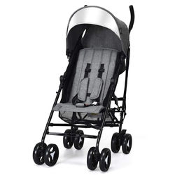 Foldable Lightweight Baby Infant Travel Umbrella Stroller-Dark Gray - Color: Dark Gray