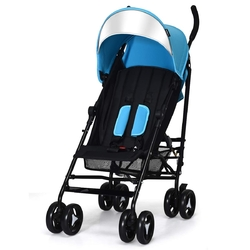 Foldable Lightweight Baby Infant Travel Umbrella Stroller-Light Blue