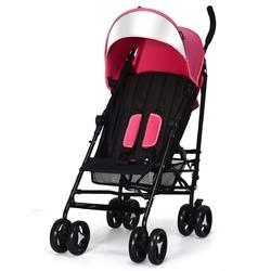 Foldable Lightweight Baby Infant Travel Umbrella Stroller-Pink - Color: Pink