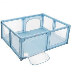 Baby Playpen Extra Large Kids Activity Center Safety Play-Blue - Color: Blue
