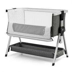 Baby Bed Side Crib Portable Adjustable Infant Travel Sleeper Bassinet-Dark Gray - Color: Dark Gray