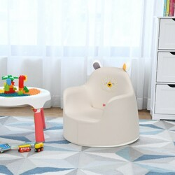 Kids Cartoon Sofa Seat Toddler Children Armchair Couch-White - Color: White