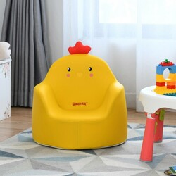 Kids Cartoon Sofa Seat Toddler Children Armchair Couch-Yellow - Color: Yellow
