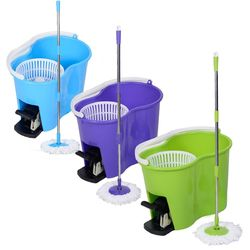 360° Rotating Magic Spin Mop with 2 Microfiber Heads