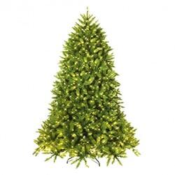 Category: Dropship Seasonal & Holiday Decorations, SKU #CM22059, Title: 7.5 Ft Pre-lit PVC Christmas Fir Tree with 700 LED Light