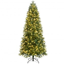 Category: Dropship Seasonal, SKU #CM23598US, Title: Artificial Christmas Tree with 2 Lighting Colors and 9 Flash Modes-8 ft - Size: 8 ft