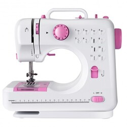 Free-Arm Crafting Mending Sewing Machine with 12 Built-in Stitched - Color: White