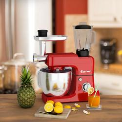 3-in-1 Multi-functional 6-speed Tilt-head Food Stand Mixer