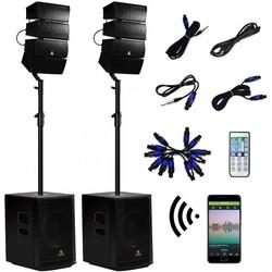 12 Inch 4000Watt Powered PA Speaker Combo Set