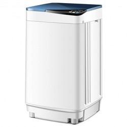 Full-automatic Washing Machine 7.7 lbs Washer / Spinner Germicidal-Blue - Color: Blue