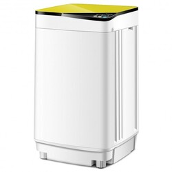 Full-automatic Washing Machine 7.7 lbs Washer / Spinner Germicidal-Yellow - Color: Yellow