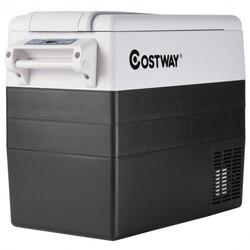 55 Quarts Portable Electric Car Refrigerator-Black - Color: Black