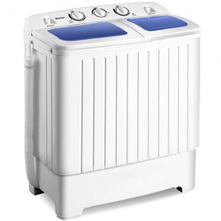 17.6lbs Compact Twin Tub Washing Machine Washer Spin Dryer