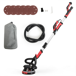 Electric Drywall Sander 750W Adjust Variable Speed w/ Vacuum  & Light