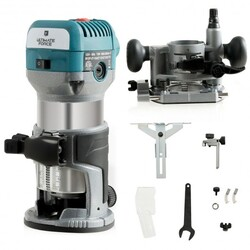1.25HP Palm Router Kit Variable Speed Woodworking with Plunge base