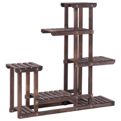 Category: Dropship Plant Stands, SKU #GT3210, Title: 6 - Tier Wooden Plant Pot Stand Rack