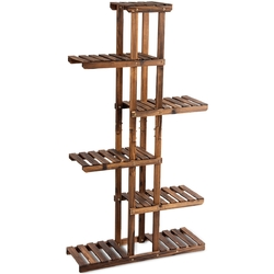 Category: Dropship Plant Stands, SKU #GT3272, Title: 6 Tier Garden Wooden Shelf Storage Plant Rack Stand