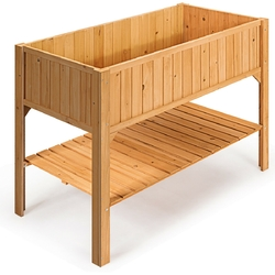 Category: Dropship Pots & Planters, SKU #GT3417, Title: Wooden Elevated Planter Box Shelf Suitable for Garden Use