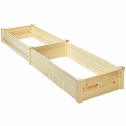 Category: Dropship Pots & Planters, SKU #GT3418, Title: Raised Flowers Vegetables Garden Wooden Planter Box