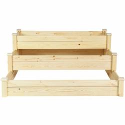 Category: Dropship Pots & Planters, SKU #GT3424, Title: 3 Tier Wooden Raised Garden Flower Vegetables Bed