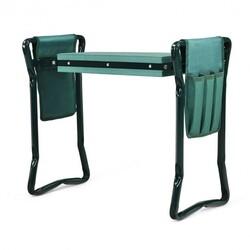 Folding Garden Kneeler and Seat Bench - Color: Green
