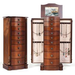 Category: Dropship Cabinets & Storage, SKU #HB83505, Title: Large Wooden Jewelry Storage Box Organizer