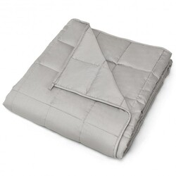 "7 lbs 41"" x 60"" 100% Cotton Weighted Blankets-Light Gray"