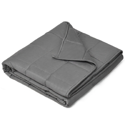 15 lbs Weighted Blankets with Glass Beads Light-Dark Gray