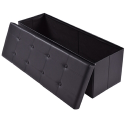 "45"" Large Folding Ottoman Storage Seat"