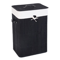 Rectangle Bamboo Hamper Laundry Basket