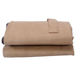 Outdoor Waterproof Chaise Cushion Storage Bag - Color: Brown