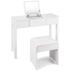 Makeup Dressing Table Set Vanity with Cell Storage Box