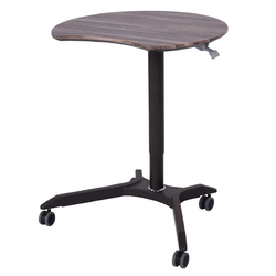 Rolling Laptop Computer Desk Height Adjustable Mobile Workstation Table