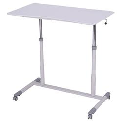 Category: Dropship Desks, SKU #HW54013, Title: Height Adjustable Computer Desk Sit to Stand Rolling Table