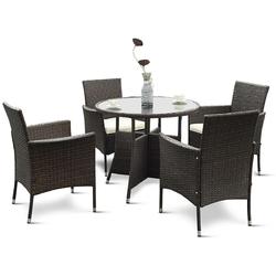 5 pcs PE Ratten Outdoor Furniture Set